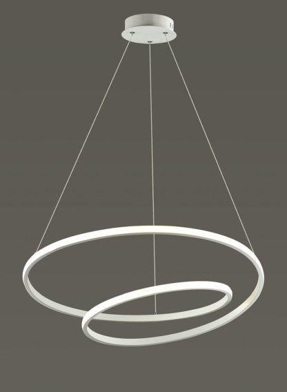 lampa wisząca białe okręgi