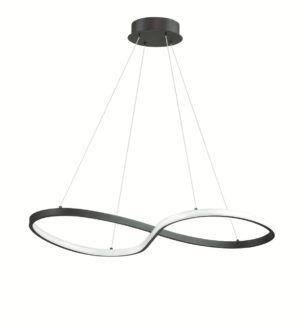 Minimalistyczna lampa wisząca Senso - czarna