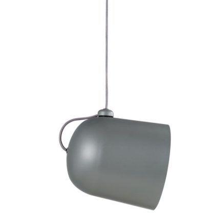 szara lampa wisząca z regulowanym kloszem