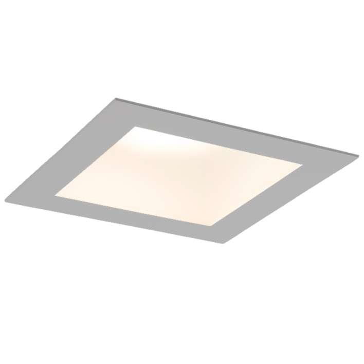Kwadratowe oczko wpuszczane Tottori LED - szare