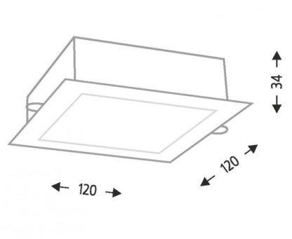 Nowoczesne kwadratowe oczko Tottori LED - czarne