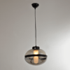 Lampa wisząca Yoko No. 1 czarna - dymione szkło