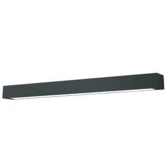 Podłużna lampa sufitowa Ibros - czarna, IP44