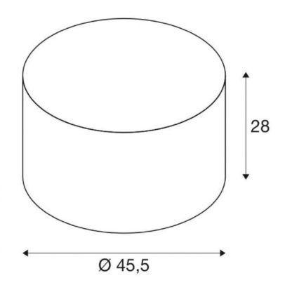 Biały abażur Fenda - okrągły, 45cm