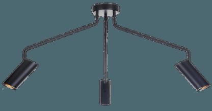 czarna lampa sufitowa pająk