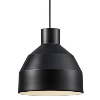 Czarna lampa wisząca William - Nordlux - geometryczna