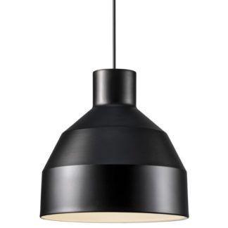 Czarna lampa wisząca William - Nordlux - metalowa