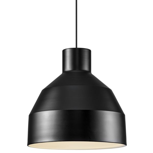 czarna lampa wisząca skandynawska