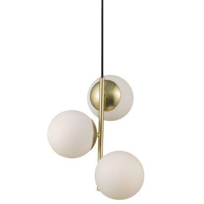 złota lampa wisząca szklane kule