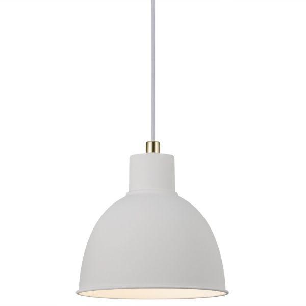 skandynawska lampa wisząca biała