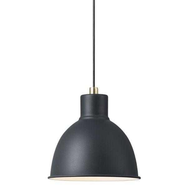 szara lampa wisząca skandynawska
