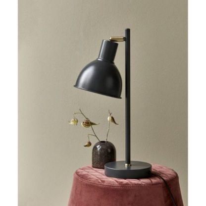 metalowa lampa biurkowa