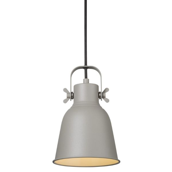 Szara lampa wisząca Adrian - Nordlux - metalowa