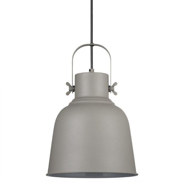 Szara lampa wisząca Adrian - Nordlux - duży klosz