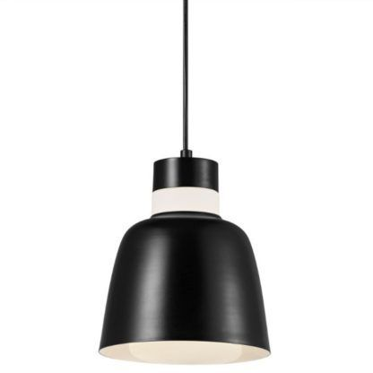 Czarna lampa wisząca Emma - Nordlux - szklane elementy