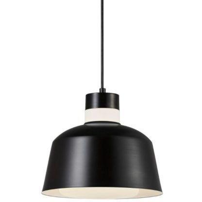 czarna lampa wisząca do kuchni