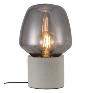 Szara lampa stołowa Christina - Nordlux - beton i szkło