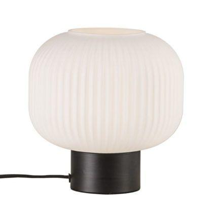 biała lampa stołowa nowoczesna