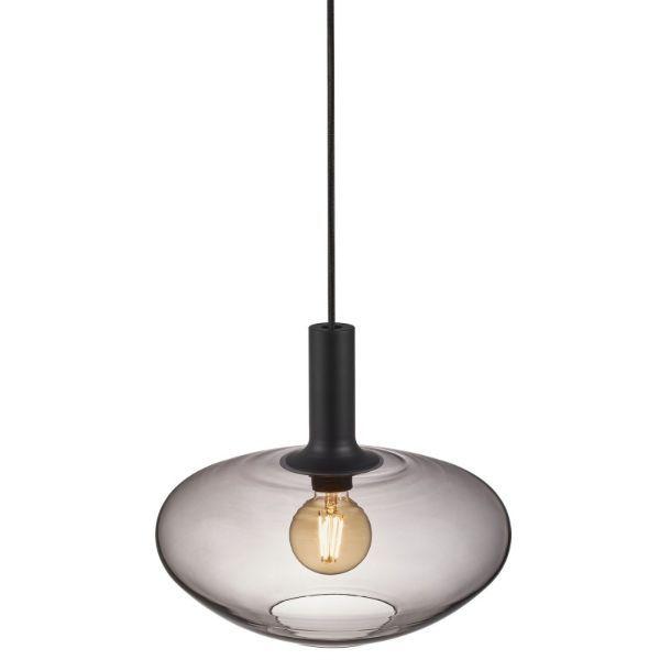 Owalna lampa wisząca Alton - Nordlux - szare szkło