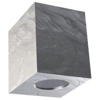 Srebrny kinkiet Canto Kubi - nowoczesny, IP44, ocynk