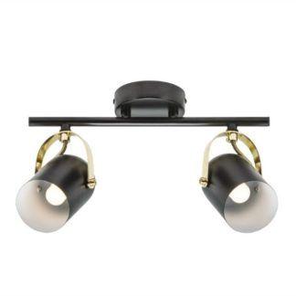 Czarna lampa sufitowa Lotus - Nordlux - 2 reflektory