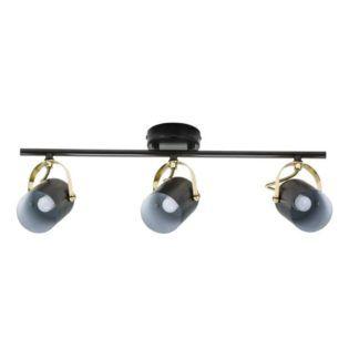 Podłużna lampa sufitowa Lotus - Nordlux - czarne reflektory