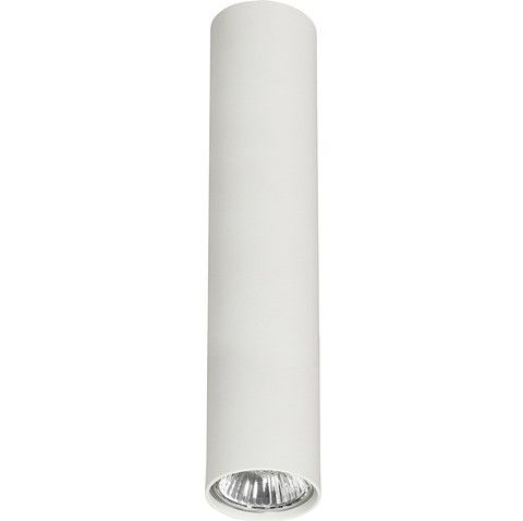 Nowoczesna lampa sufitowa Eye - biała tuba