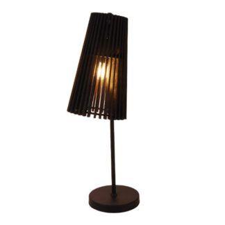 Drewniana lampa stołowa Osaka - czarna