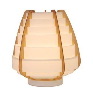 Oryginalna lampa stołowa Nagoja - biały klosz