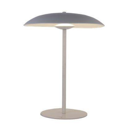 lampa stołowa z szerokim kloszem nowoczesna