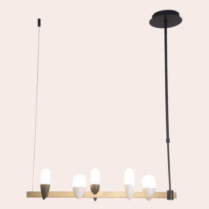 designerska lampa wisząca ptaki na listwie
