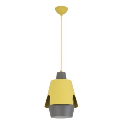 szaro-żółta lampa wisząca młodzieżowa