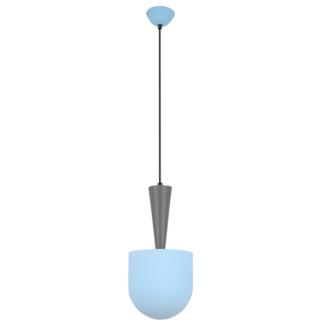 Niebiesko-szara lampa wisząca Visby - nowoczesna