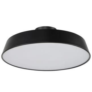 Czarny plafon Orlando - nowoczesny, LED