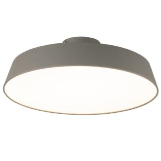 Szara lampa sufitowa Orlando - duży klosz