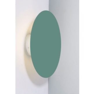 Zielony kinkiet Holar - nowoczesny, okrągły