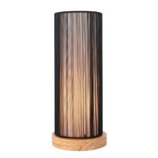 Oryginalna lampa stołowa Kioto - drewniana podstawa