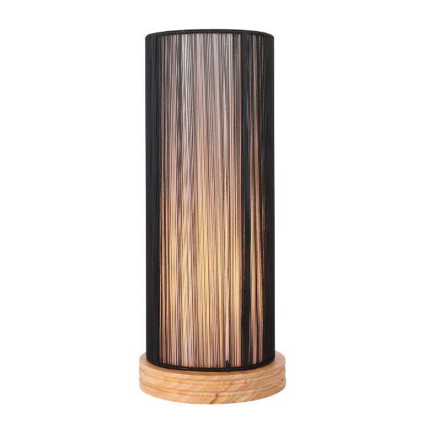 lampa stołowa tuba czarny klosz