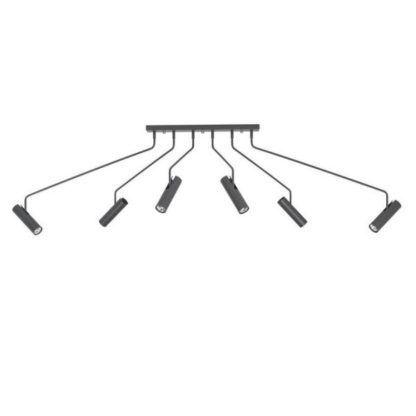 grafitowa lampa sufitowa z długimi ramionami