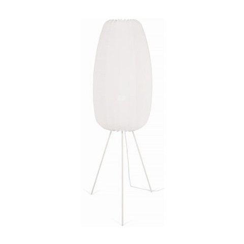 lampa podłogowa z białym abażurem nowoczesna