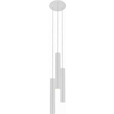 biała lampa wisząca do sypialni tuby