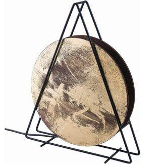 Lampa stołowa Wheel - złota, nowoczesna