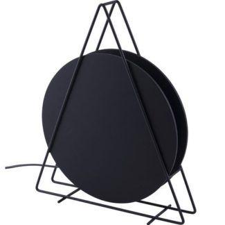 Czarna lampa stołowa Wheel - nowoczesna