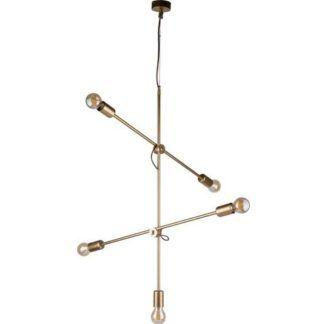 Lampa wisząca Sticks - regulowana, złota