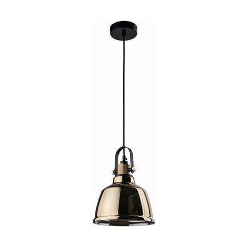lampa wisząca szklany klosz złoty