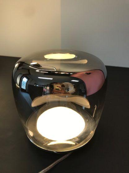 nowoczesna lampka nocna szklana