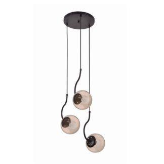 Potrójna lampa wisząca Hook - szklane klosze