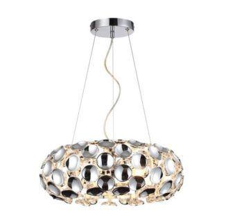 Srebrna lampa wisząca Ferrara - nowoczesna