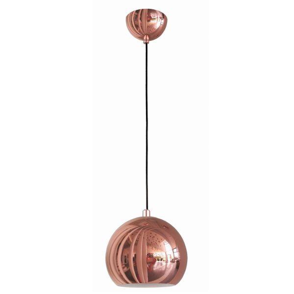 miedziane lampy w jadalni aranżacja