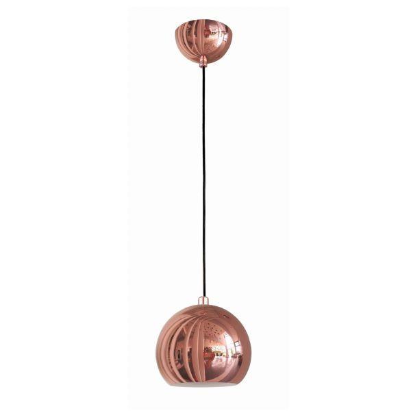lampa wisząca miedź szary salon